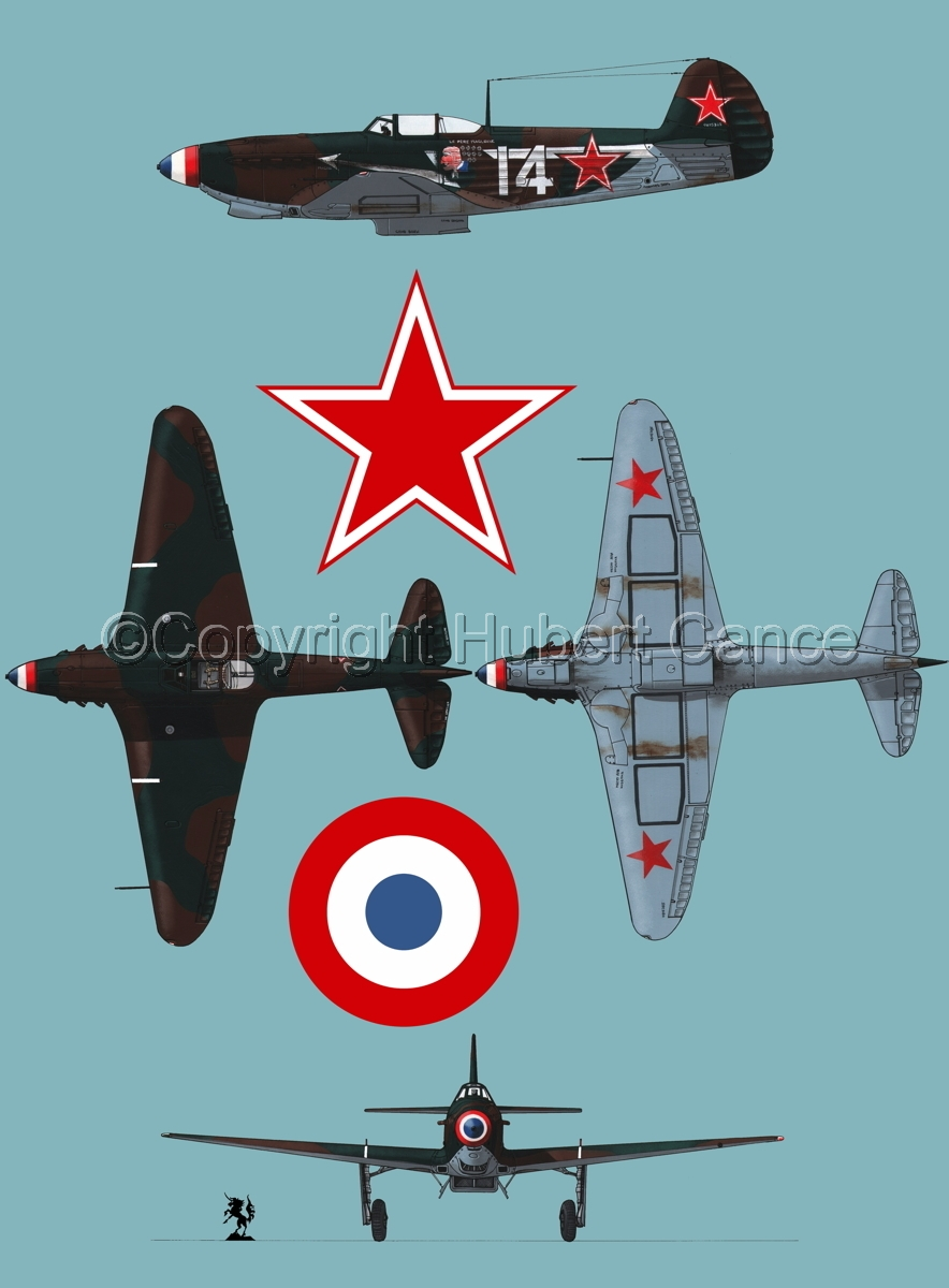 """Yakovlev Yak-9D"" 4-Views (Roundel  #3.2) (large view)"