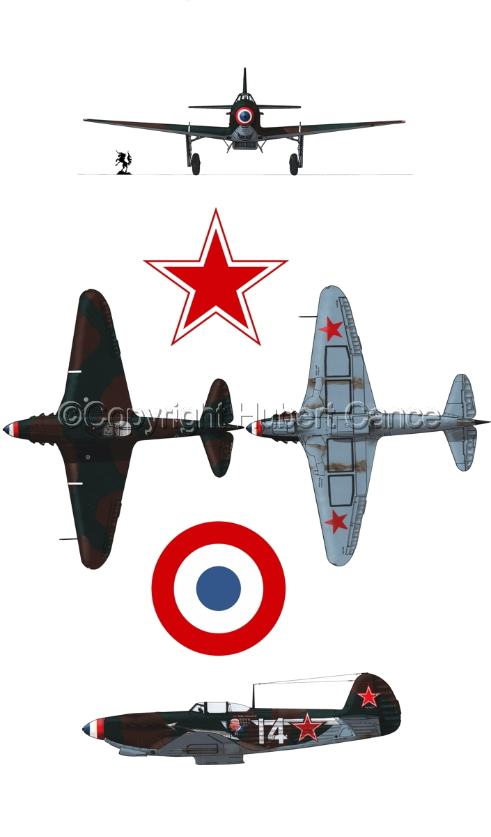 """Yakovlev Yak-9D"" 4-Views (Roundel  #4.1) (large view)"