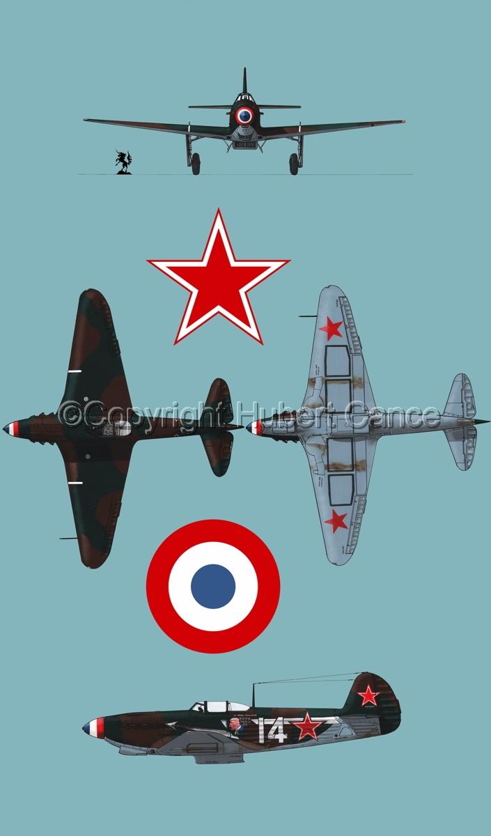 """Yakovlev Yak-9D"" 4-Views (Roundel  #4.2) (large view)"