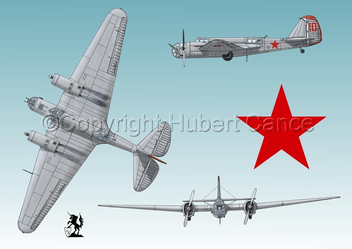 """Tupolev SB-2 """"Katyusha"""" (Roundel #1.3) (large view)"""