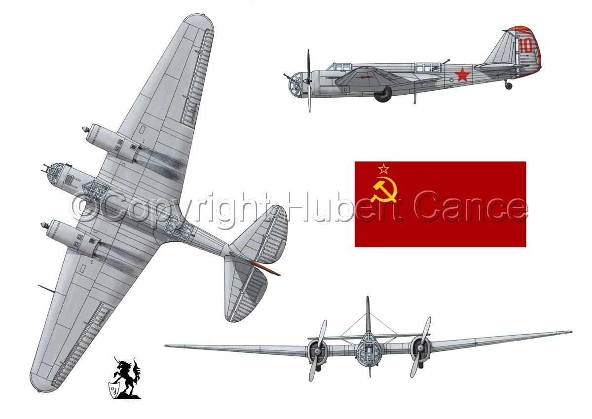 """Tupolev SB-2 """"Katyusha"""" (Flag #1.1) (large view)"""