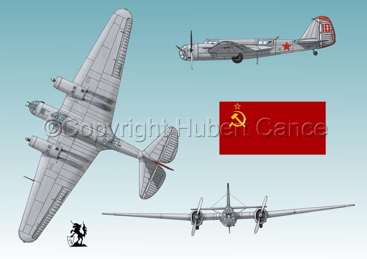 """Tupolev SB-2 """"Katyusha"""" (Flag #1.3) (large view)"""