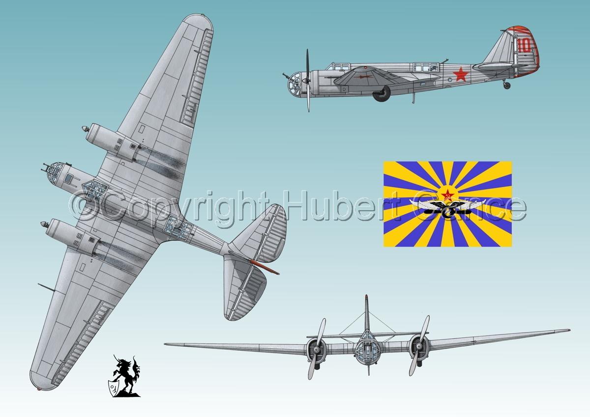 """Tupolev SB-2 """"Katyusha"""" (Flag #2.3) (large view)"""