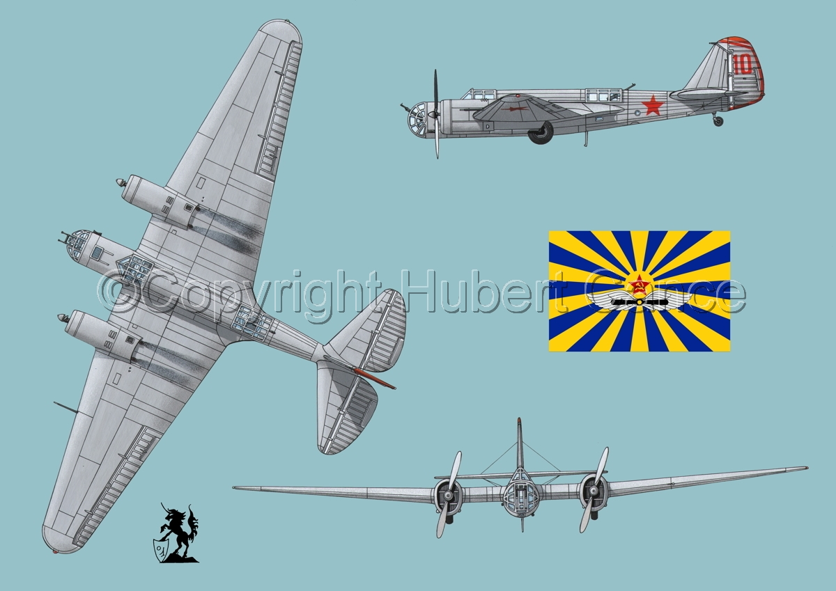 "Tupolev SB-2 ""Katyusha"" (Flag #3.2) (large view)"