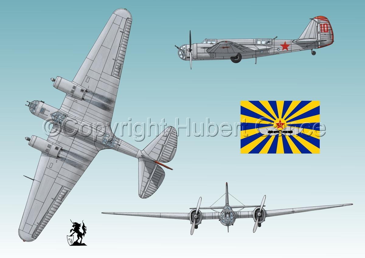 """Tupolev SB-2 """"Katyusha"""" (Flag #3.3) (large view)"""