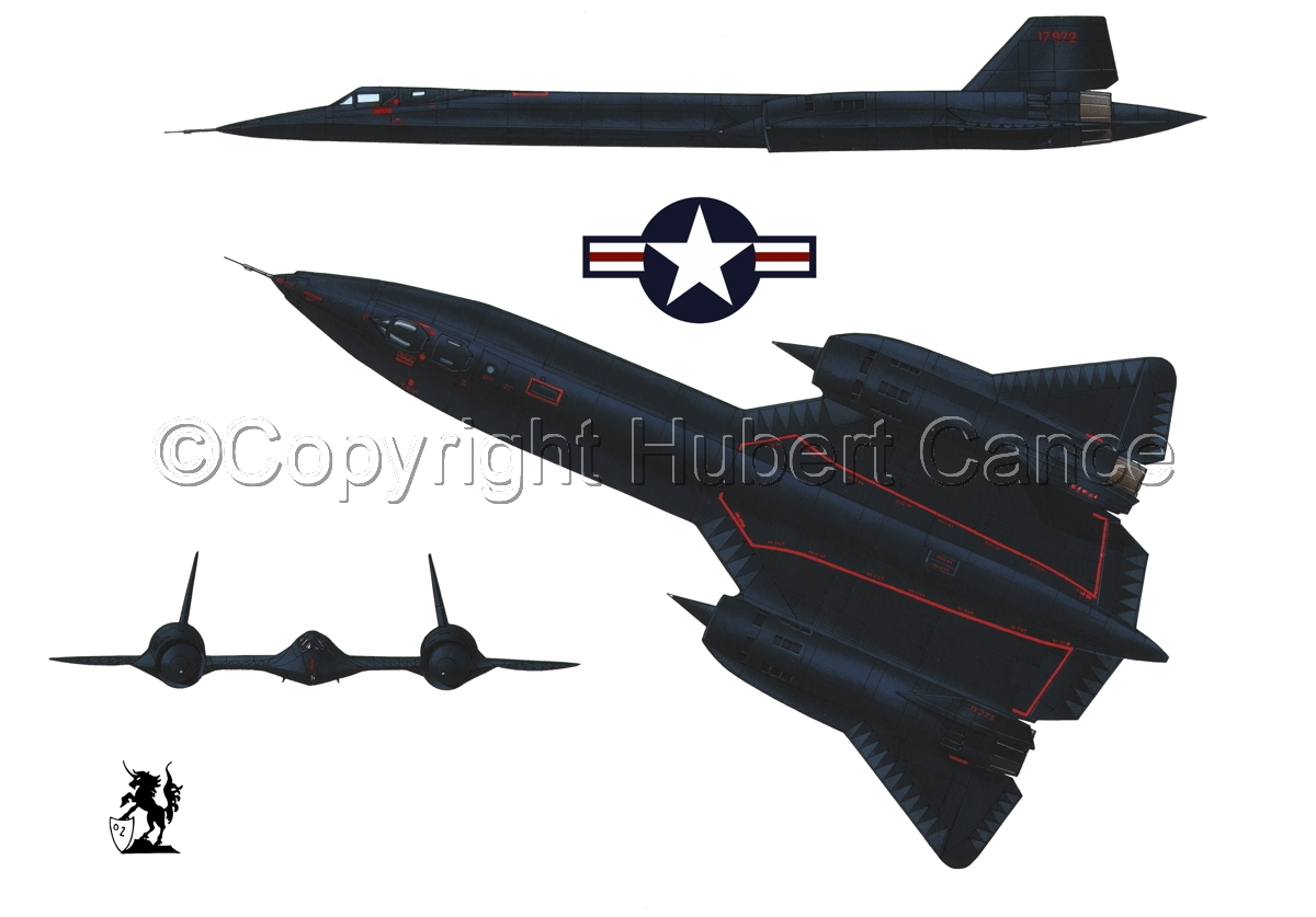 "Lockheed SR-71A ""Blackbird"" (Roundel #1.1) (large view)"