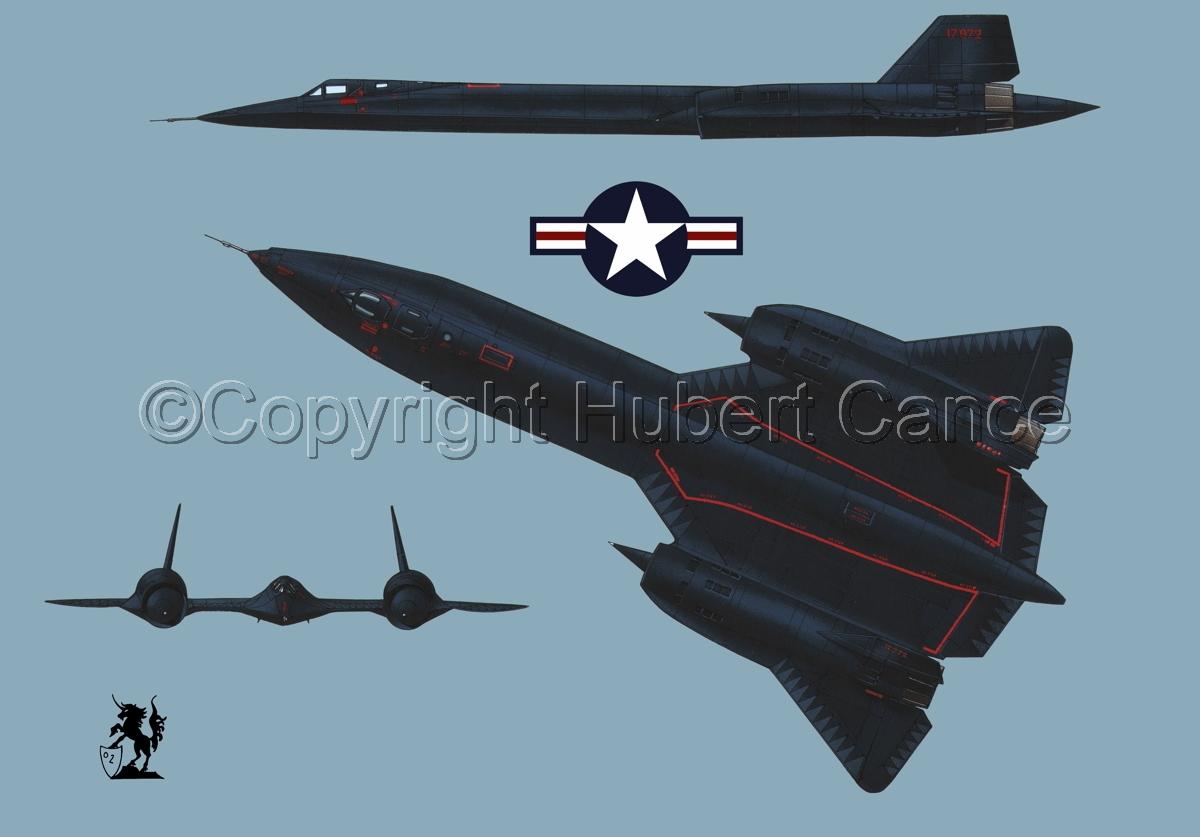 "Lockheed SR-71A ""Blackbird"" (Roundel #1.2) (large view)"