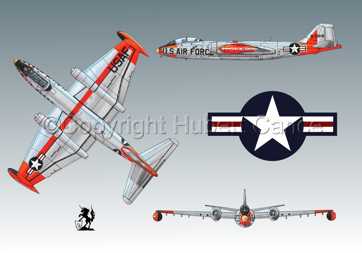 """Martin B-57B """"Canberra"""" (Roundel #1.3) (large view)"""