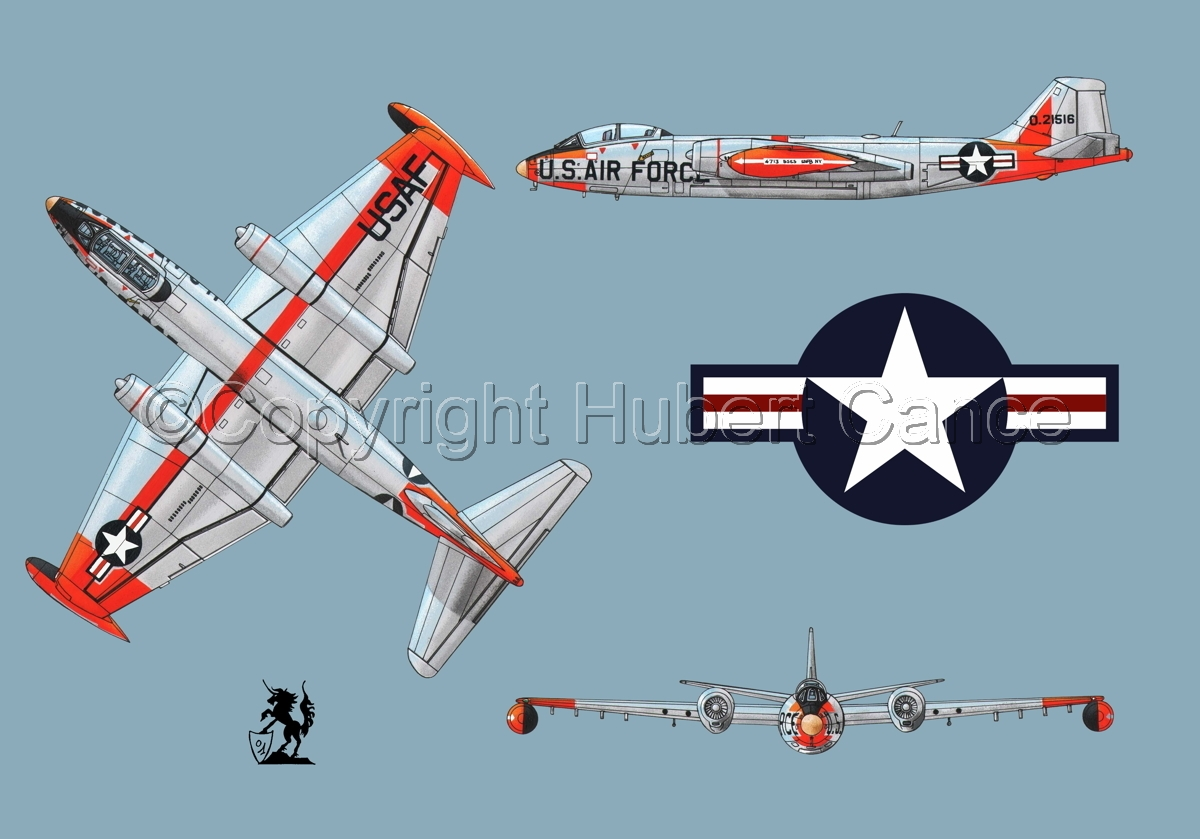 "Martin B-57B ""Canberra"" (Roundel #1.2) (large view)"