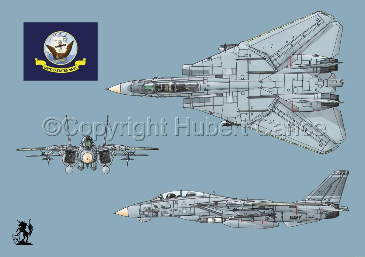 "Grumman F-14A ""Tomcat"" #2 (Flag #2.2) (large view)"