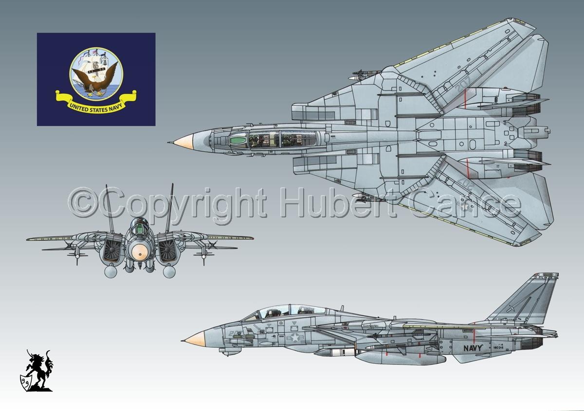 "Grumman F-14A ""Tomcat"" #2 (Flag #2.3) (large view)"