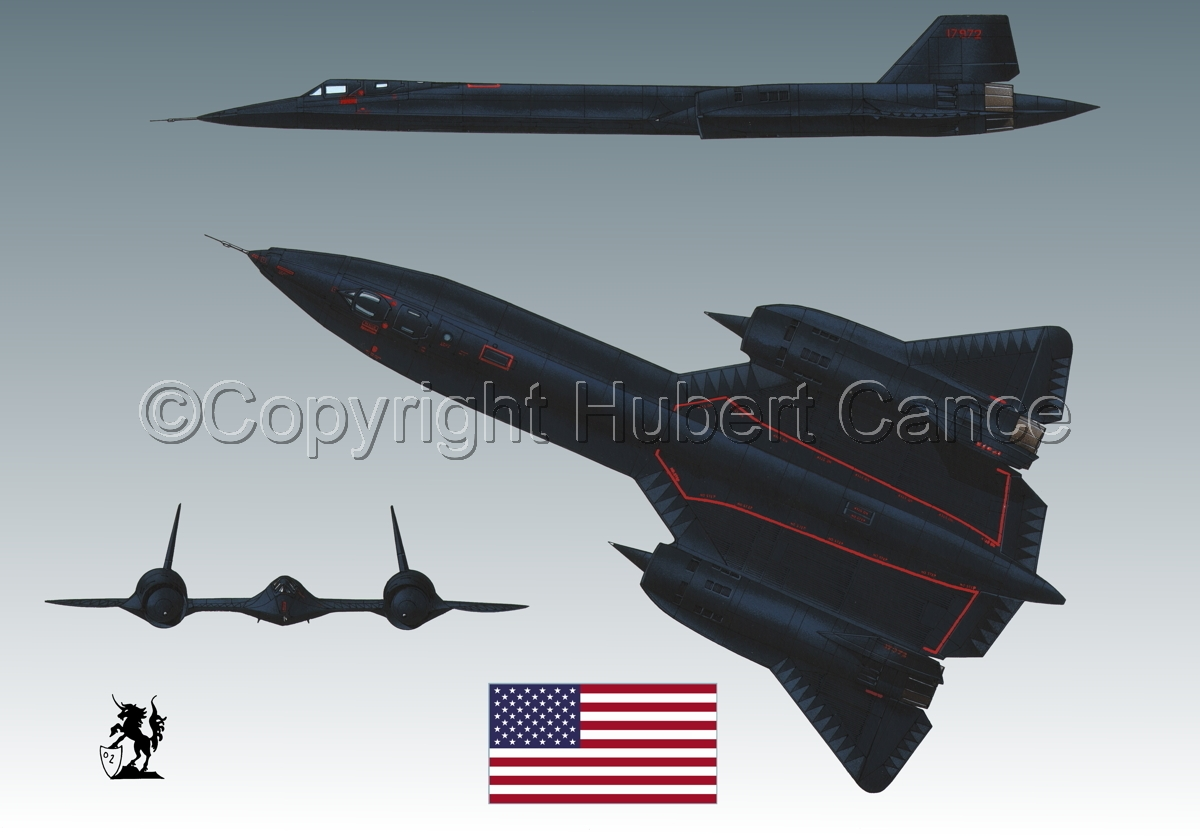"Lockheed SR-71A ""Blackbird"" (Flag #1.3) (large view)"