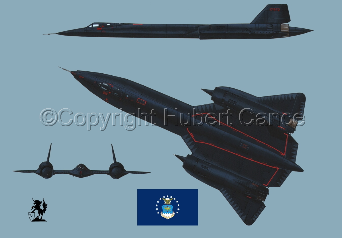 "Lockheed SR-71A ""Blackbird"" (Flag #2.2) (large view)"