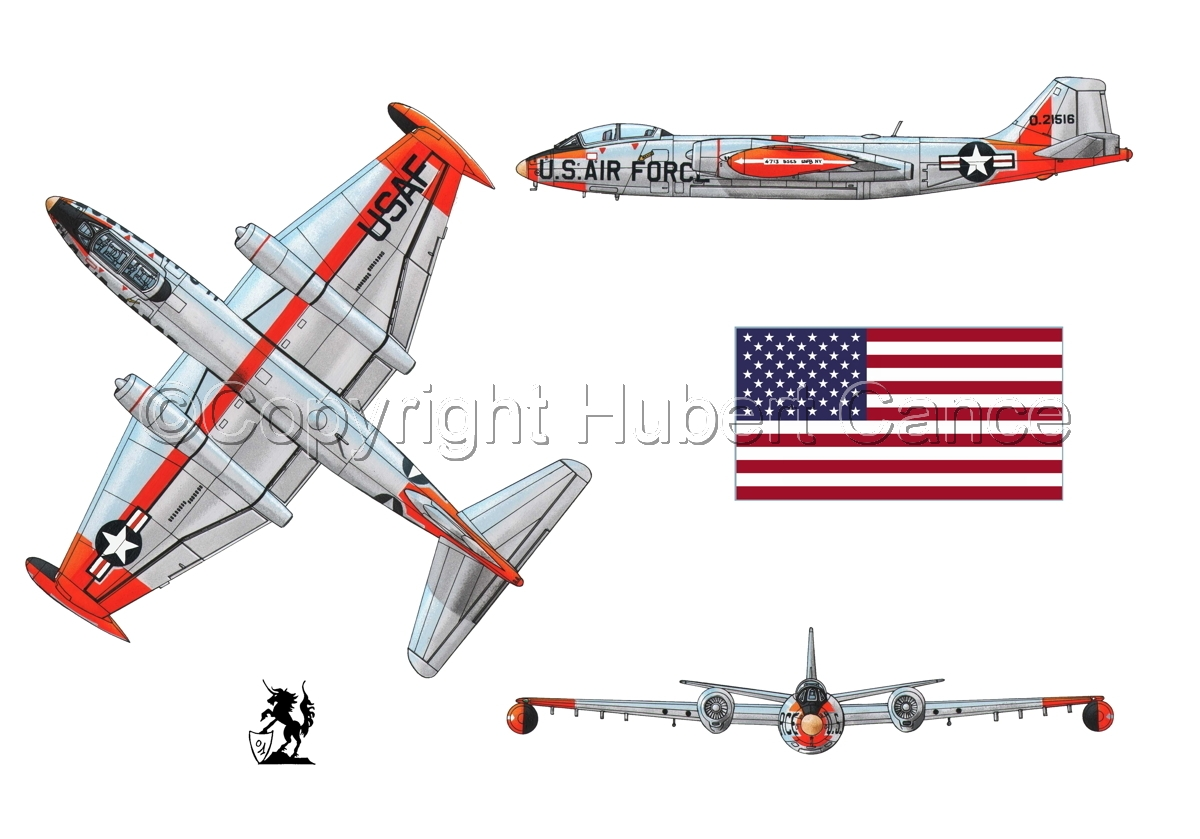 "Martin B-57B ""Canberra"" (Flag #1.1) (large view)"