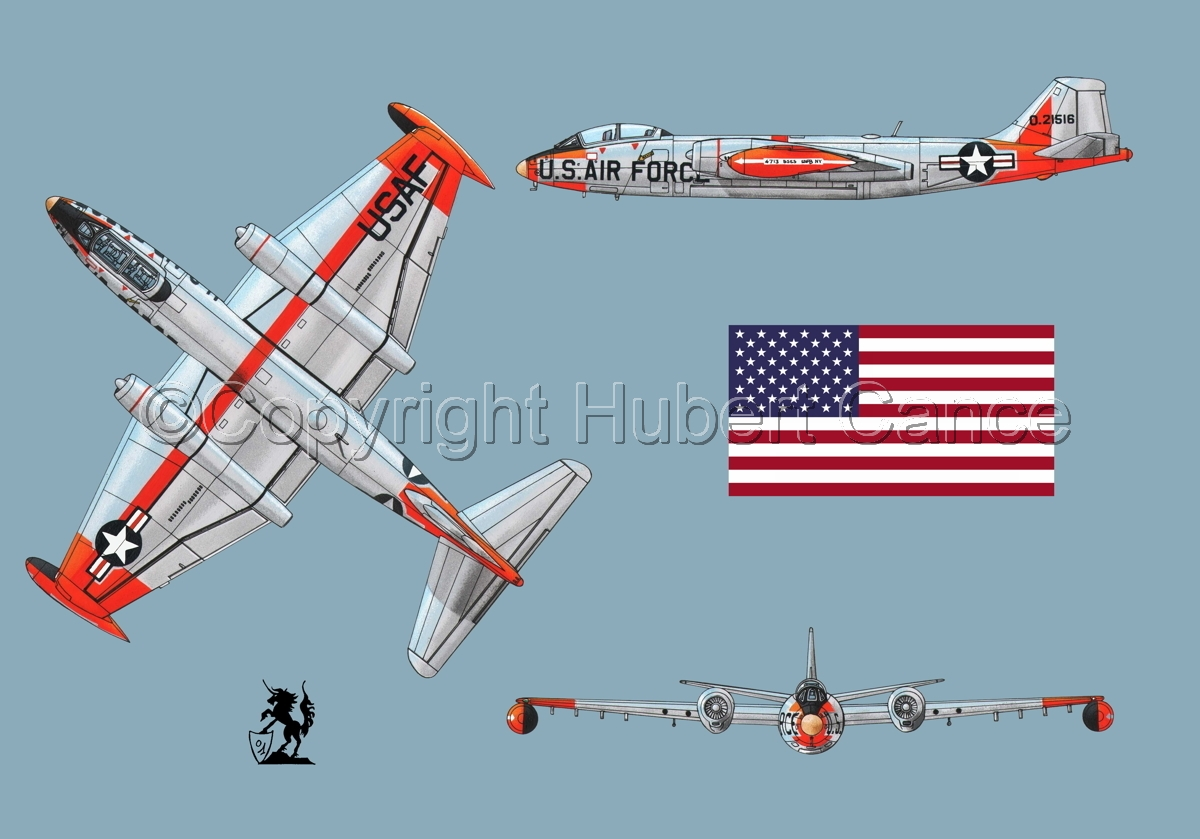 "Martin B-57B ""Canberra"" (Flag #1.2) (large view)"