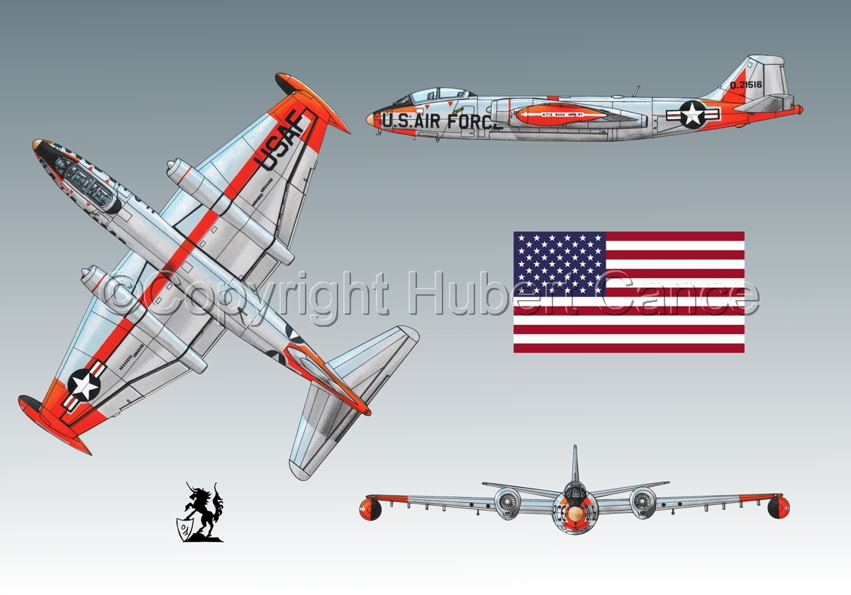 "Martin B-57B ""Canberra"" (Flag #1.3) (large view)"