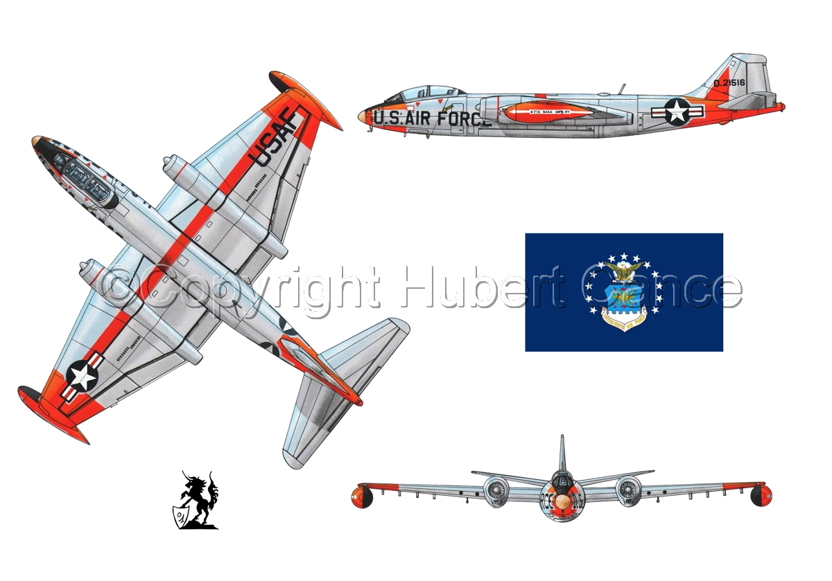 "Martin B-57B ""Canberra"" (Flag #2.1) (large view)"