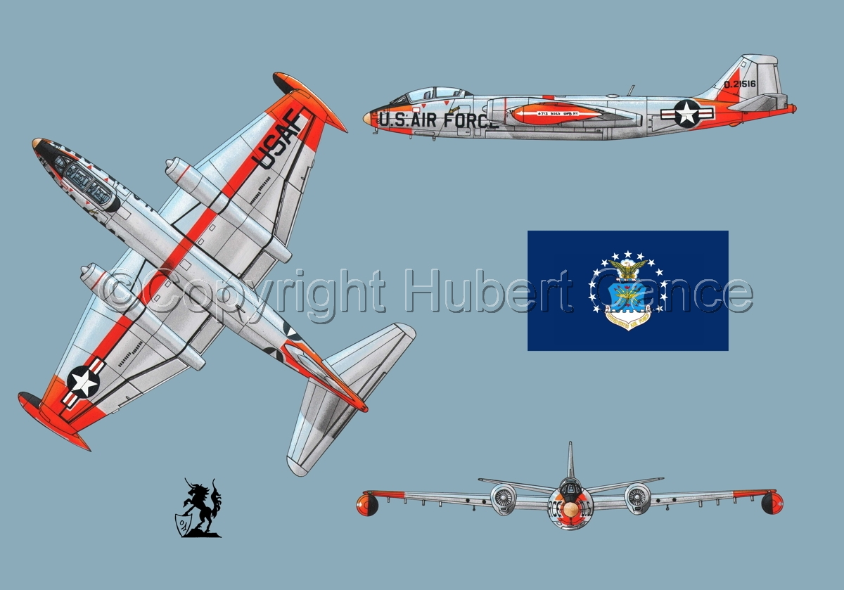 "Martin B-57B ""Canberra"" (Flag #2.2) (large view)"