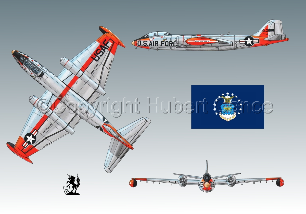 "Martin B-57B ""Canberra"" (Flag #2.3) (large view)"