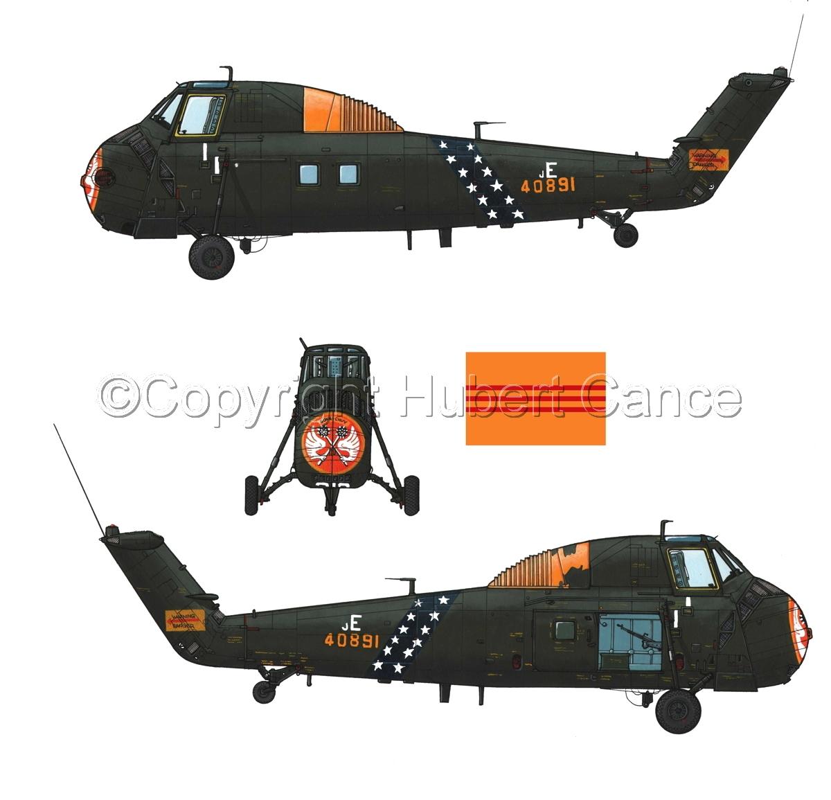 "Sikorsky H-34 ""Choctaw"" VNAF (Flag #1.1) (large view)"