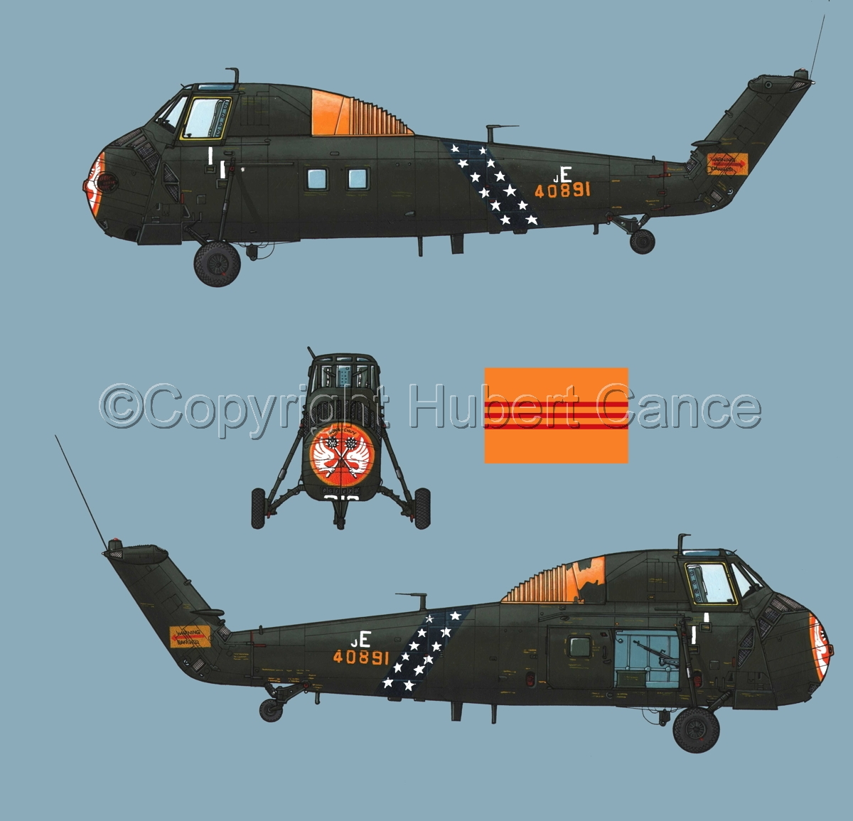 "Sikorsky H-34 ""Choctaw"" VNAF (Flag #1.2) (large view)"