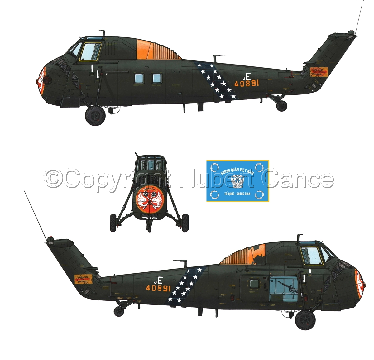 "Sikorsky H-34 ""Choctaw"" VNAF (Flag #2.1) (large view)"