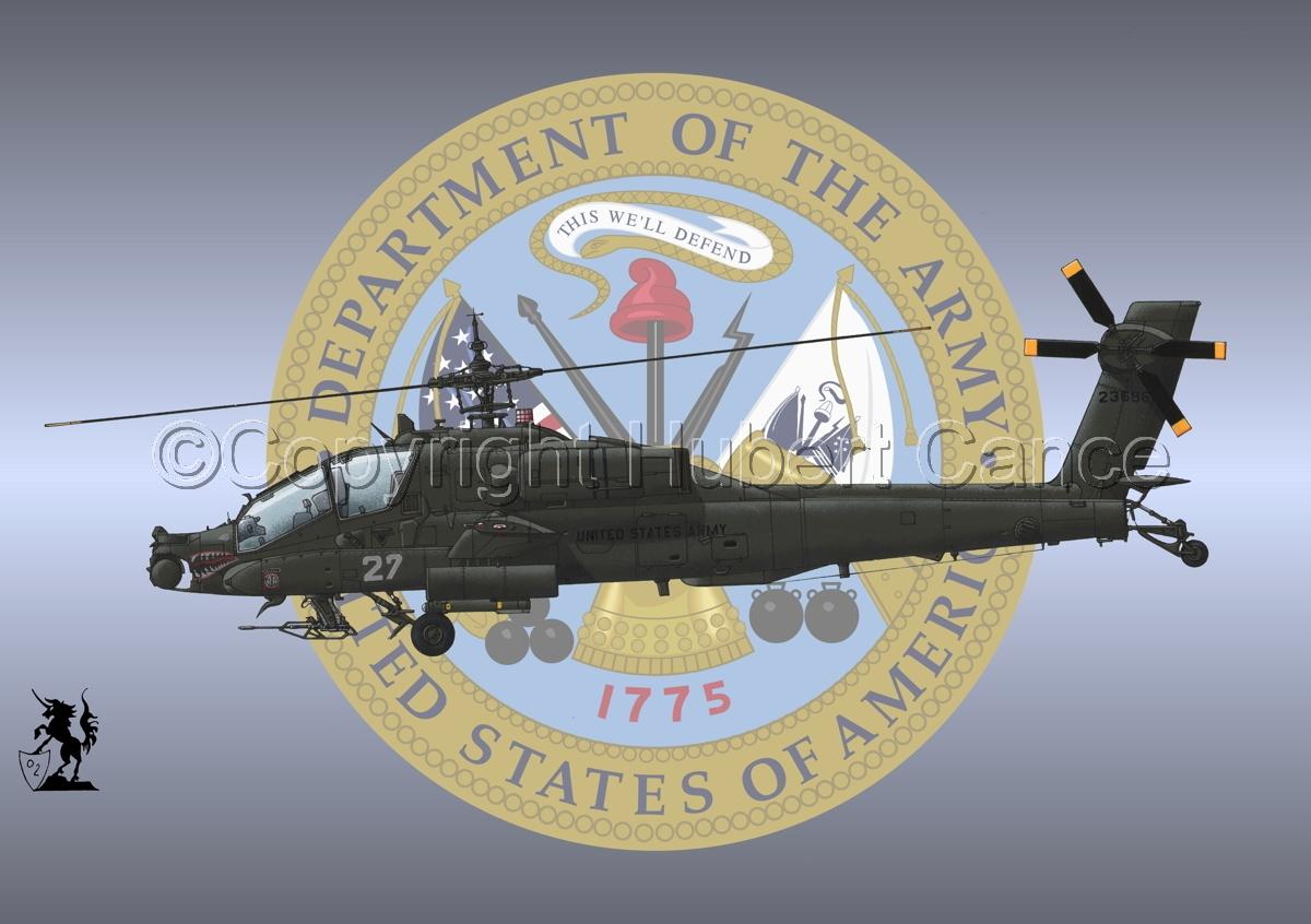 """Hughes AH-64A """"Apache"""" (Insignia #1) (large view)"""