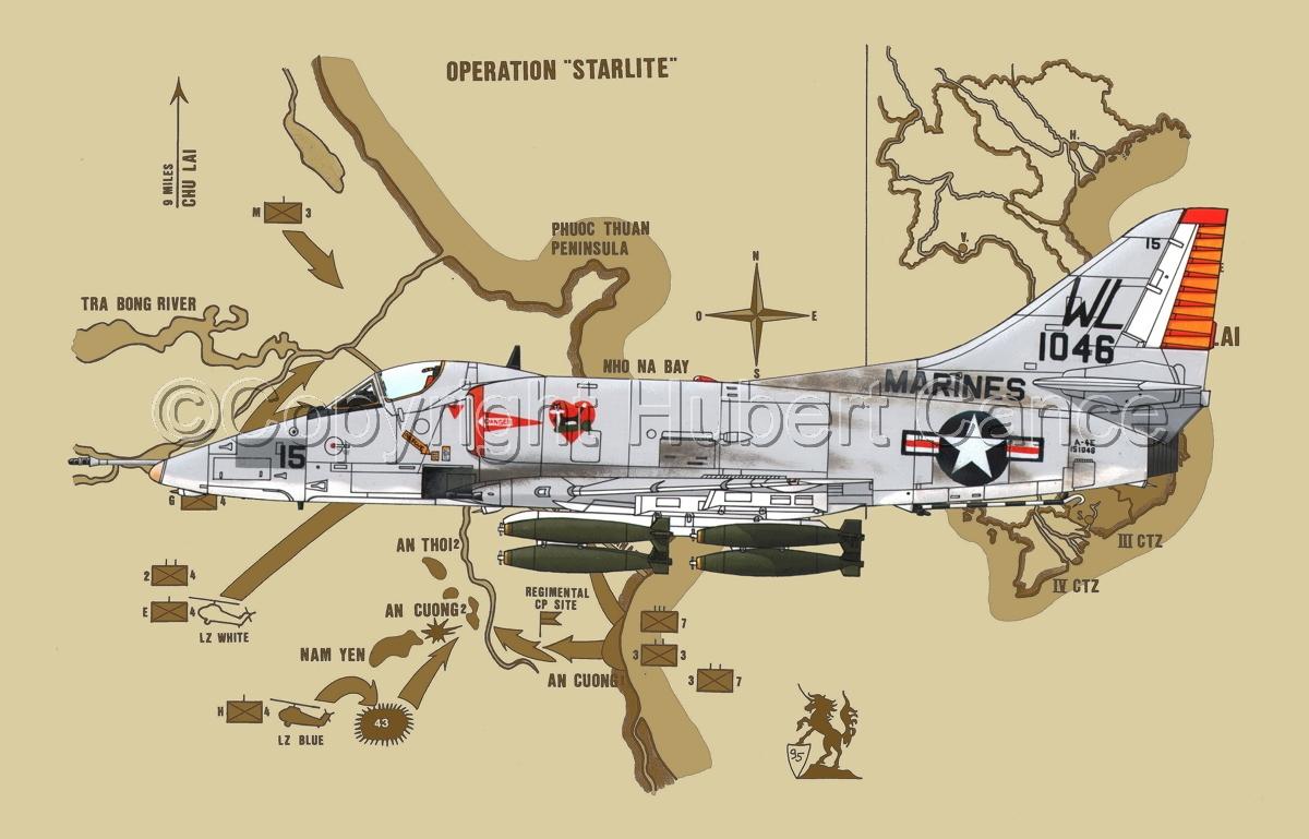 """Douglas A-4E """"Skyhawk"""" (Map #2) (large view)"""