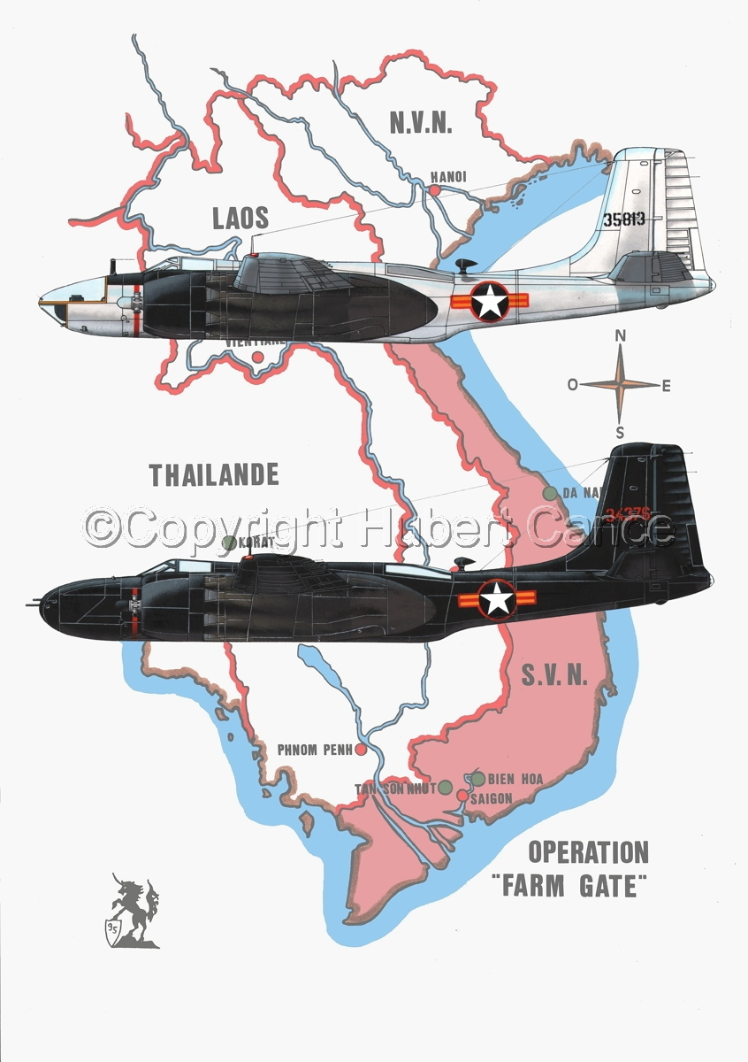 "Douglas B-26C and RB-26C ""Invader"" (Map #1) (large view)"
