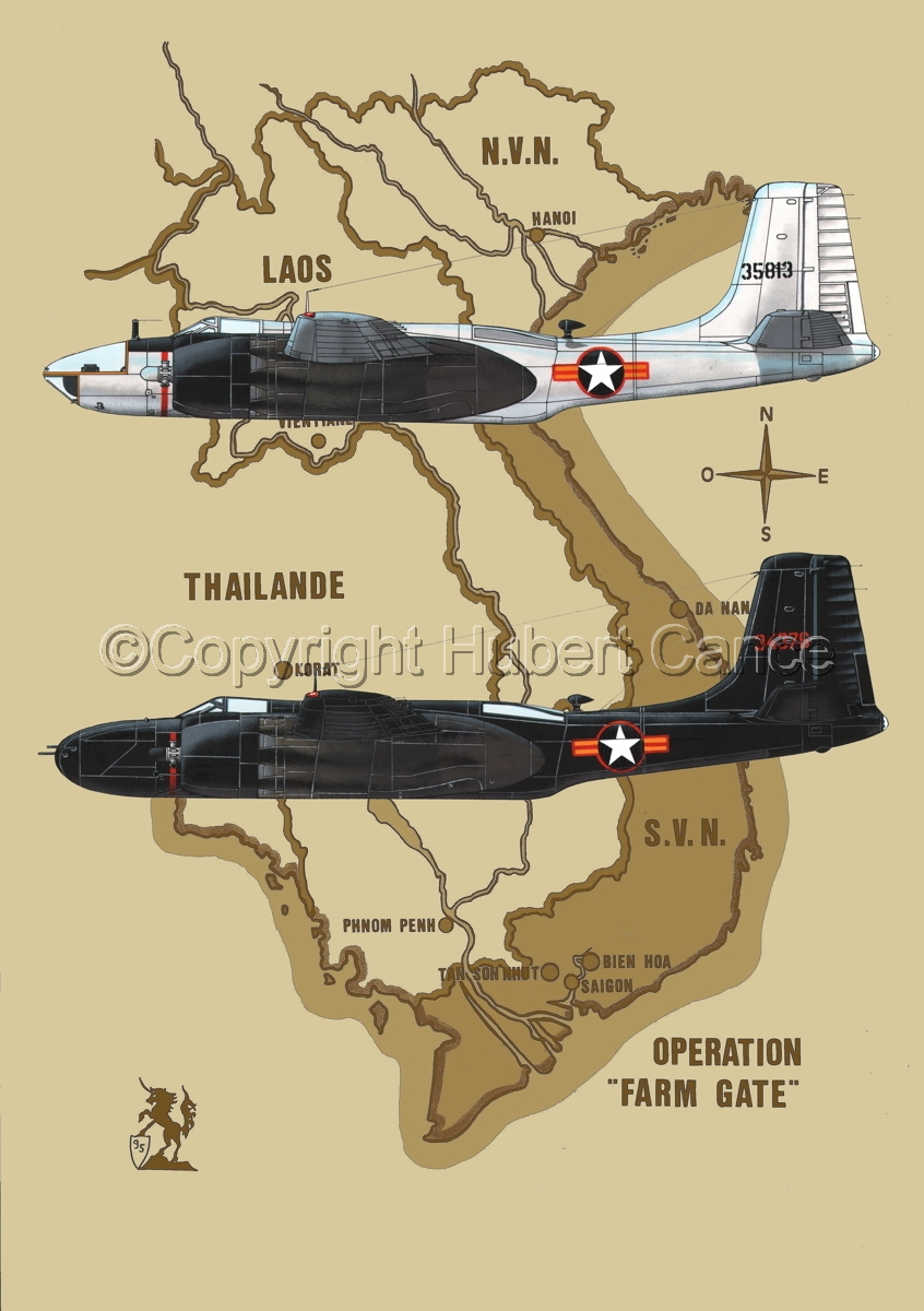 """Douglas B-26C and RB-26C """"Invader"""" (Map #2) (large view)"""