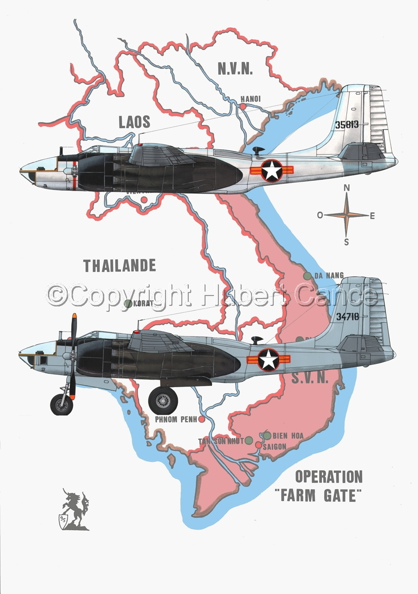 "Douglas RB-26C  and RB-26L ""Invader"" (Map #1) (large view)"