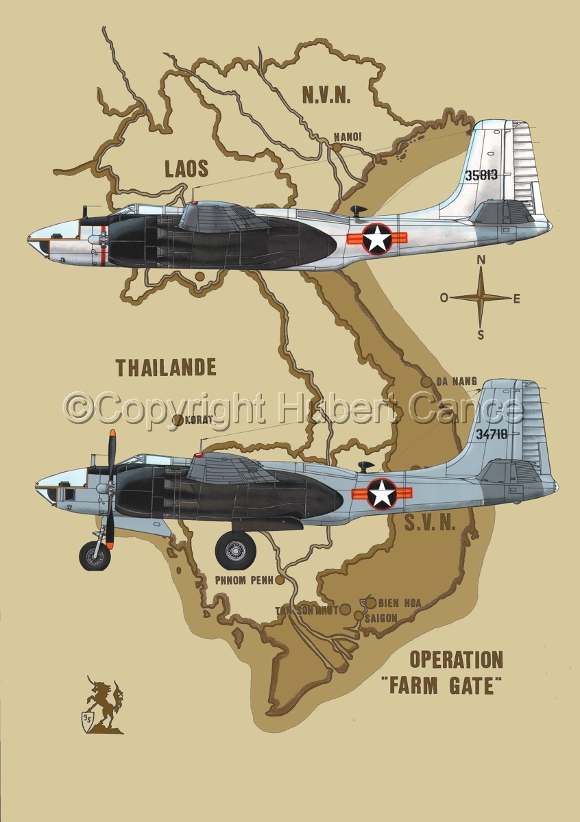"Douglas RB-26C  and RB-26L ""Invader"" (Map #2) (large view)"