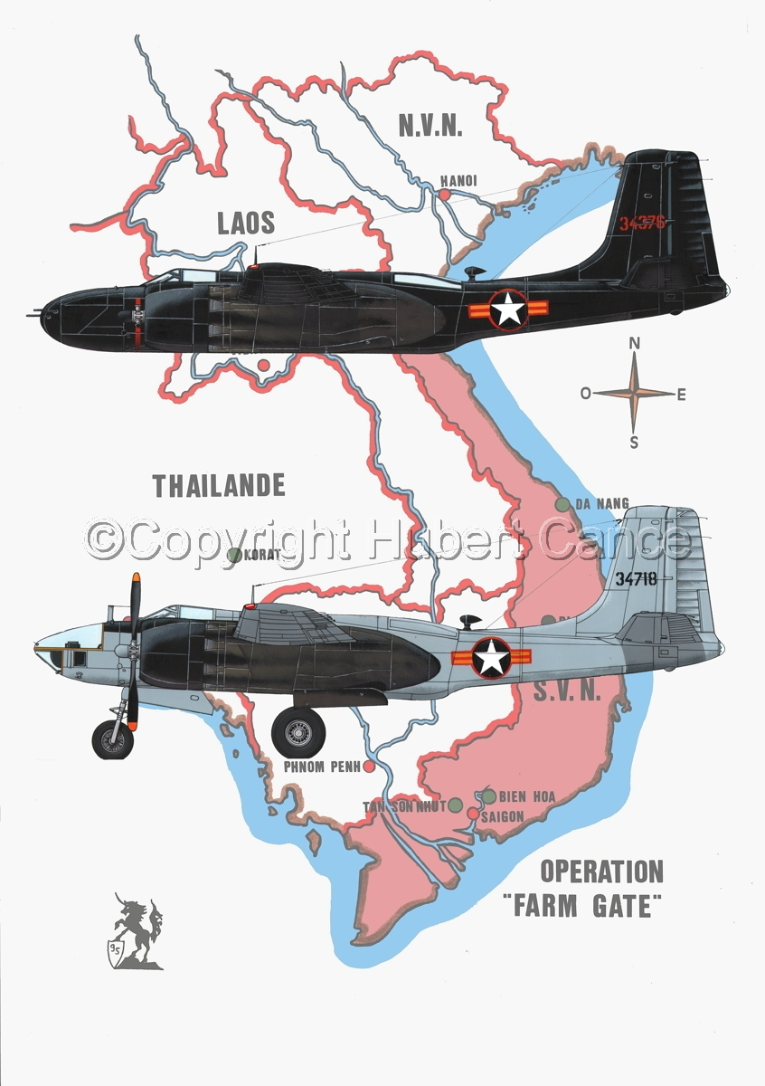 "Douglas B-26C and RB-26L ""Invader"" (Map #1) (large view)"