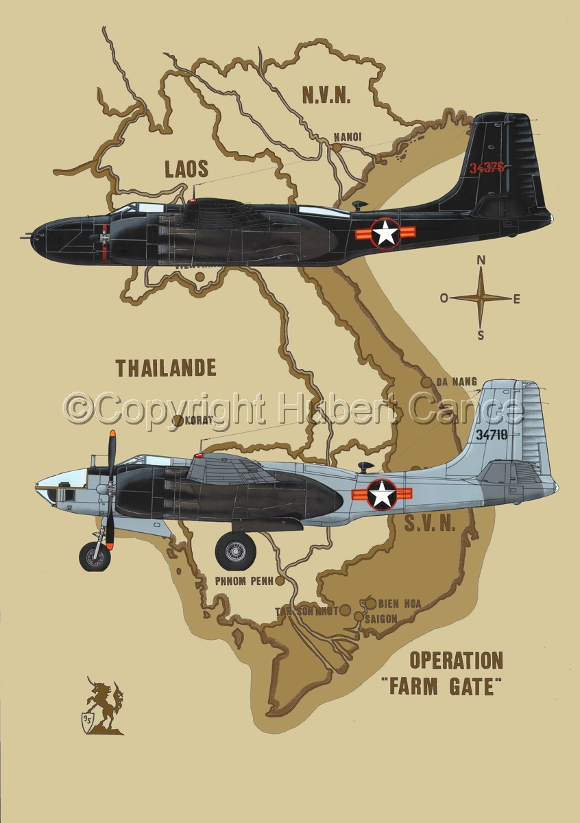 "Douglas B-26C and RB-26L ""Invader"" (Map #2) (large view)"