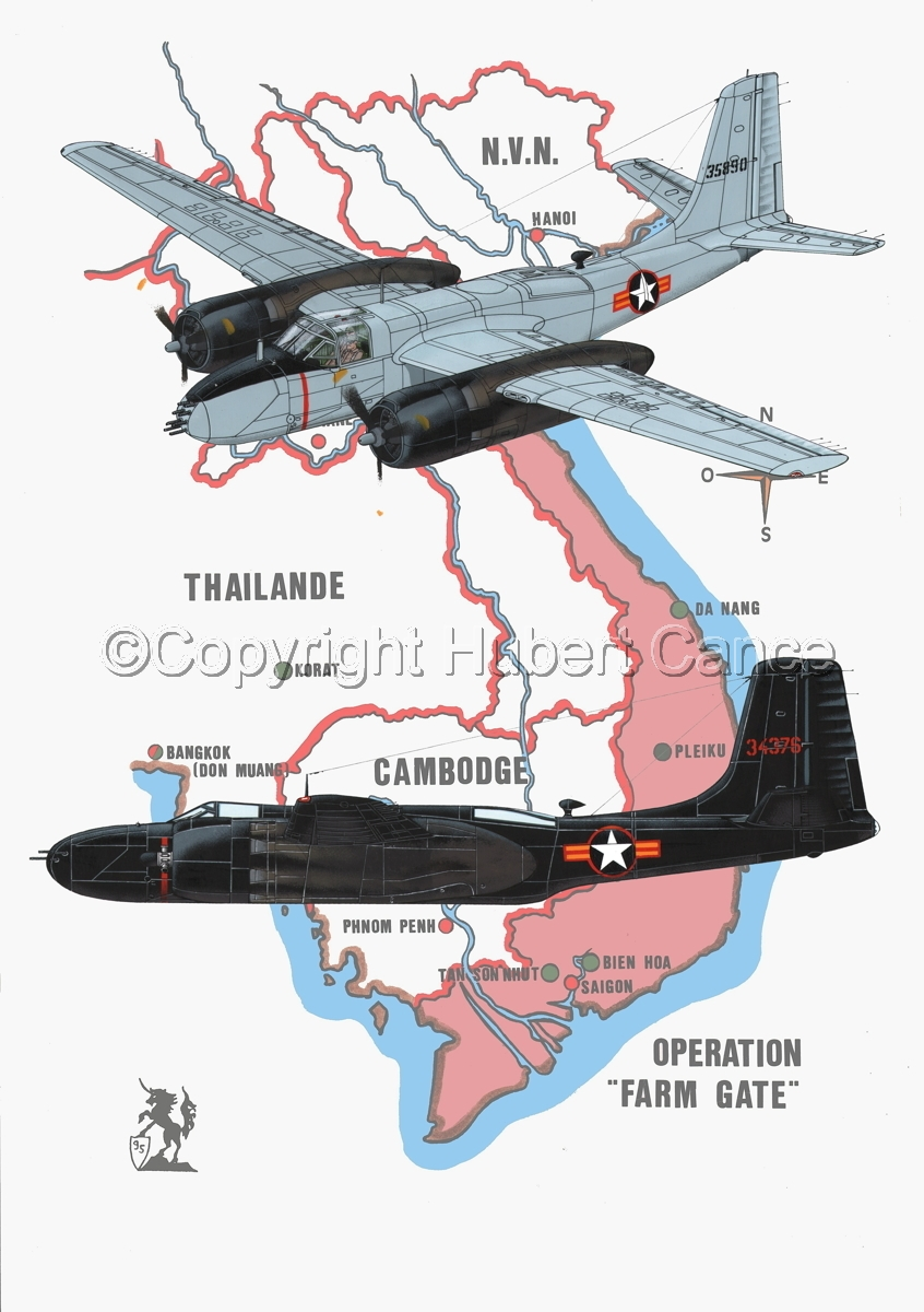 "Douglas B-26B and B-26C ""Invader"" (Map #1) (large view)"