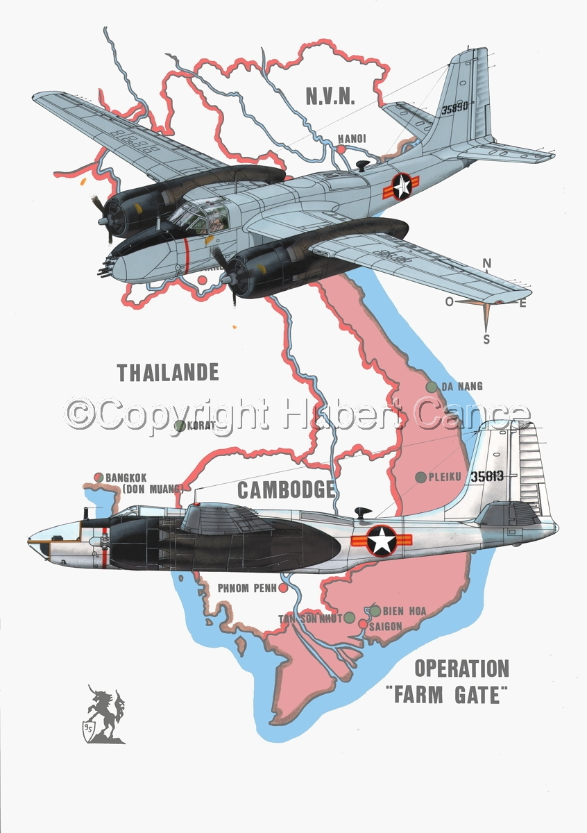 "Douglas B-26B and RB-26C ""Invader"" (Map #1) (large view)"