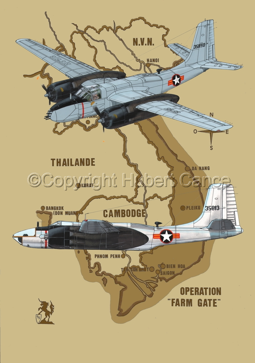 """Douglas B-26B and RB-26C """"Invader"""" (Map #2) (large view)"""