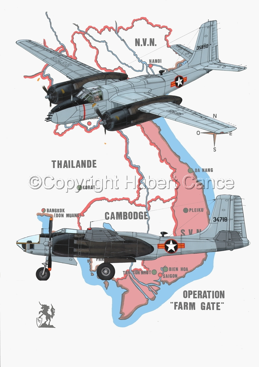 """Douglas B-26B and RB-26L """"Invader"""" (Map #1) (large view)"""