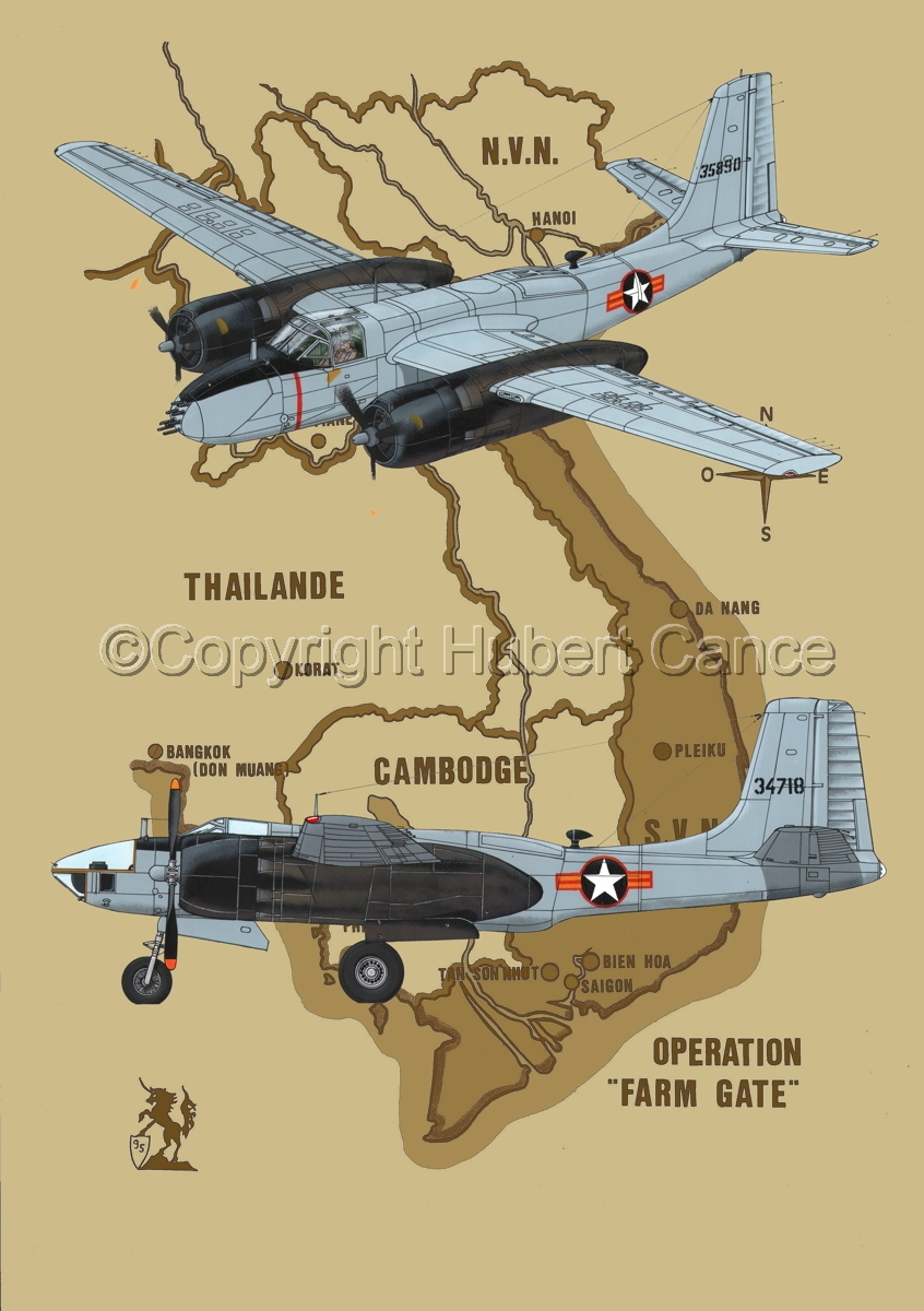 "Douglas B-26B and RB-26L ""Invader"" (Map #2) (large view)"