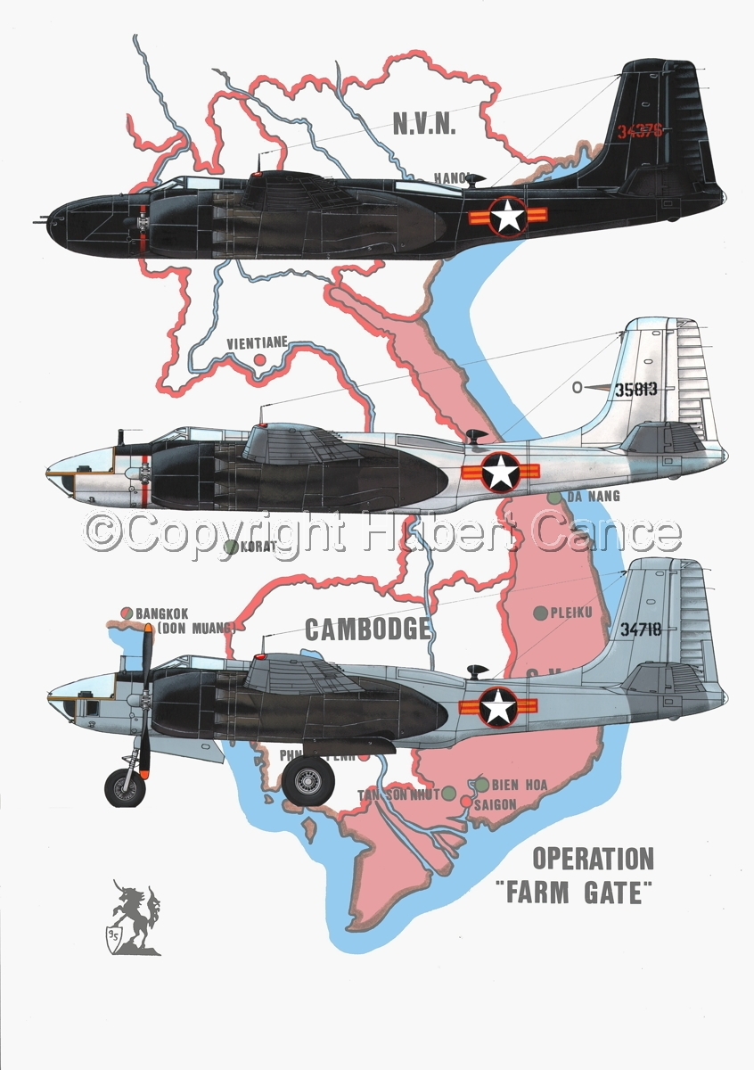 "Douglas B-26C, RB-26C and RB-26L ""Invader"" (Map #1) (large view)"