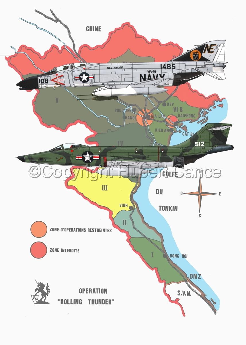 "McDD F-4B ""Phantom II"" and RF-101C ""Voodoo"" (Map #1) (large view)"