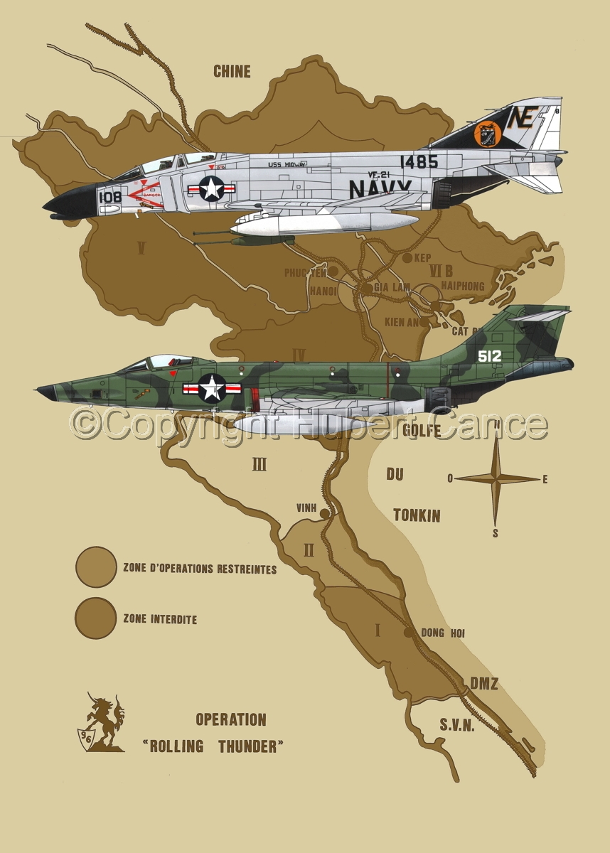 "McDD F-4B ""Phantom II"" and RF-101C ""Voodoo"" (Map #2) (large view)"