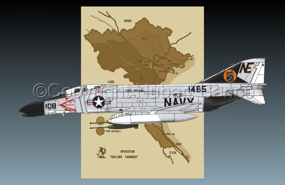 "McDD F-4B ""Phantom II"" (Map #2.2) (large view)"