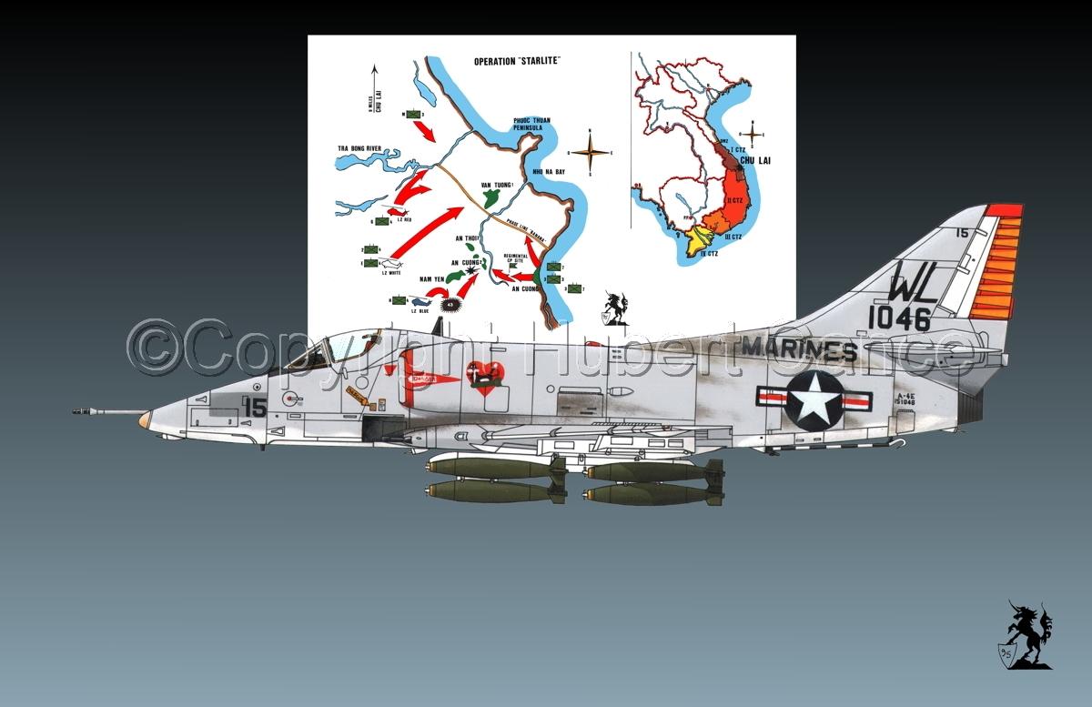 """Douglas A-4E """"Skyhawk"""" (Map #1.1) (large view)"""