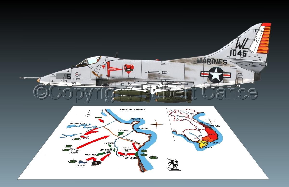 """Douglas A-4E """"Skyhawk"""" (Map #1.2) (large view)"""