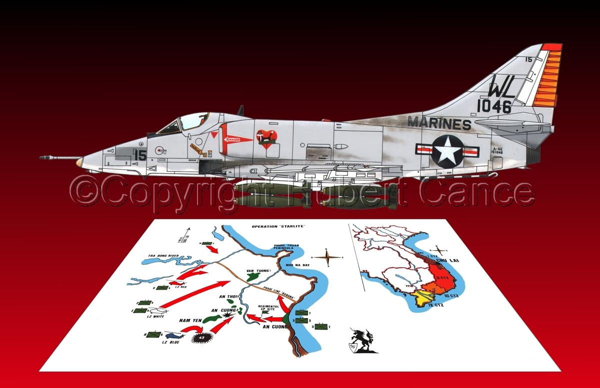 """Douglas A-4E """"Skyhawk"""" (Map #1.4) (large view)"""