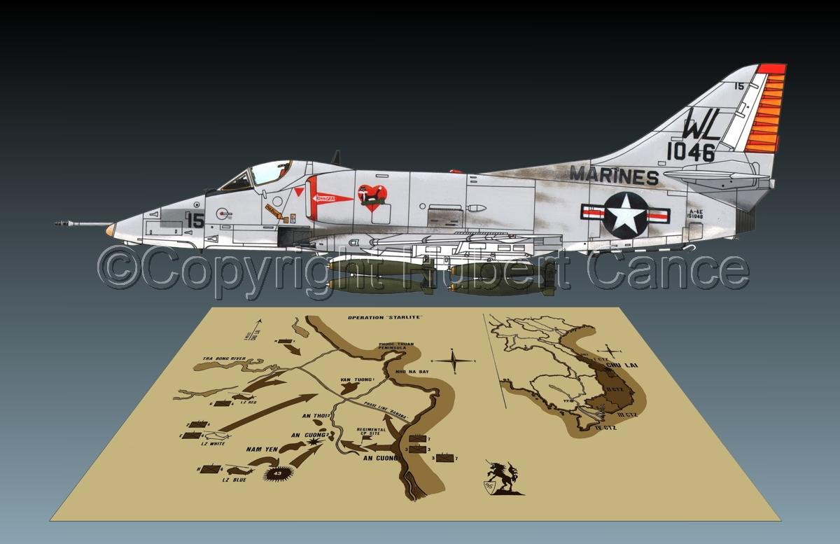 """Douglas A-4E """"Skyhawk"""" (Map #2.2) (large view)"""