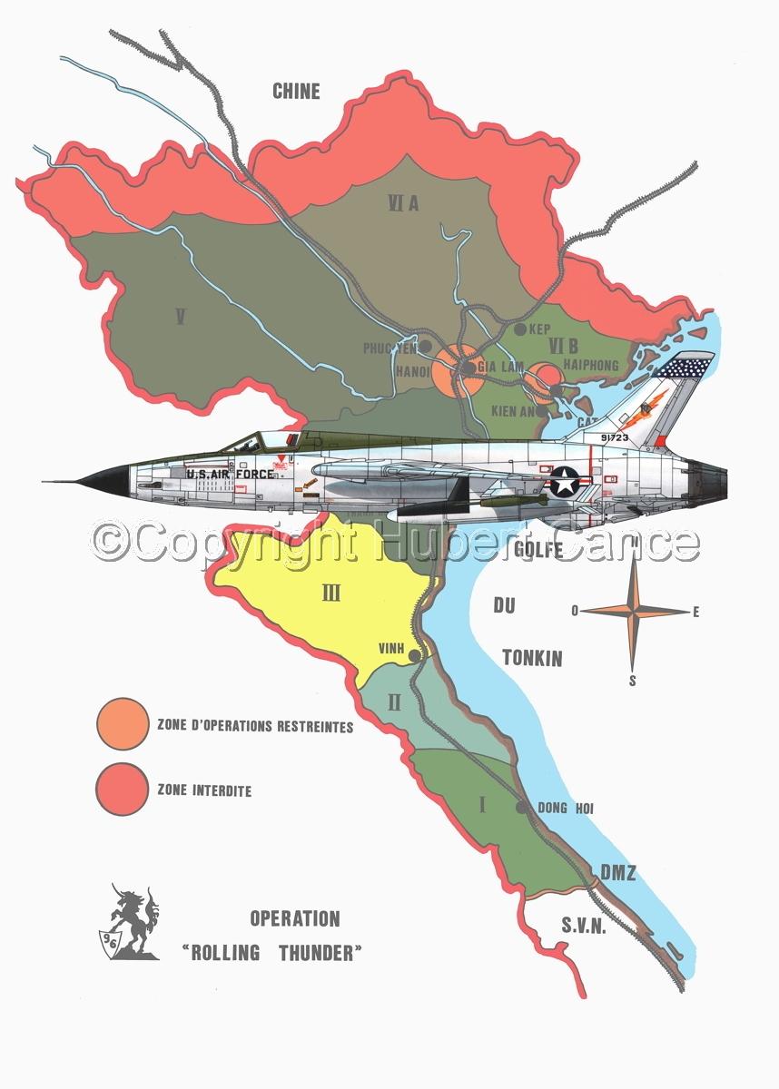 "Republic F-105D ""Thunderchief"" (Map #1) (large view)"