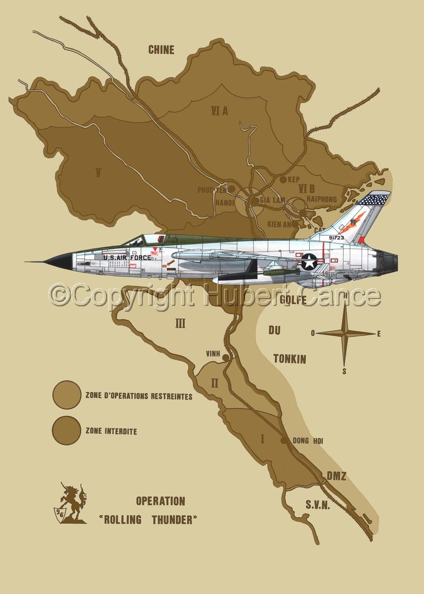 "Republic F-105D ""Thunderchief"" (Map #2) (large view)"