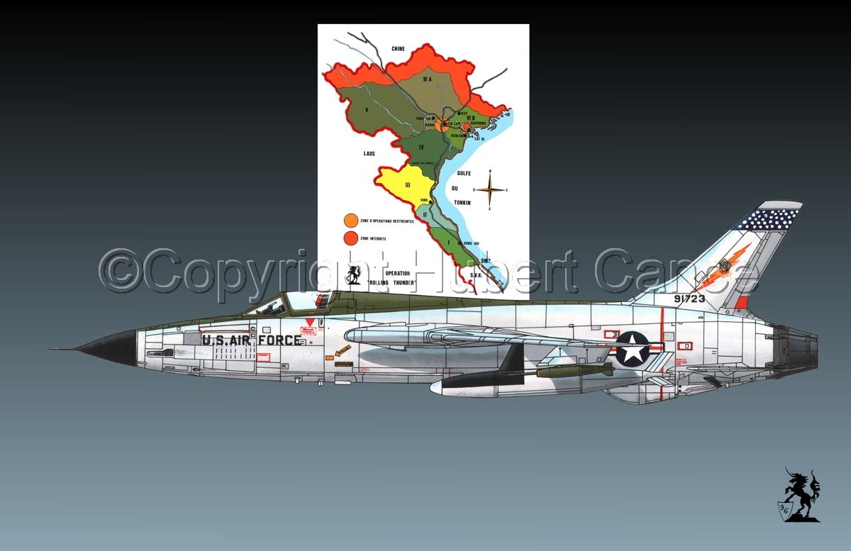 "Republic F-105D ""Thunderchief"" (Map #1.1) (large view)"